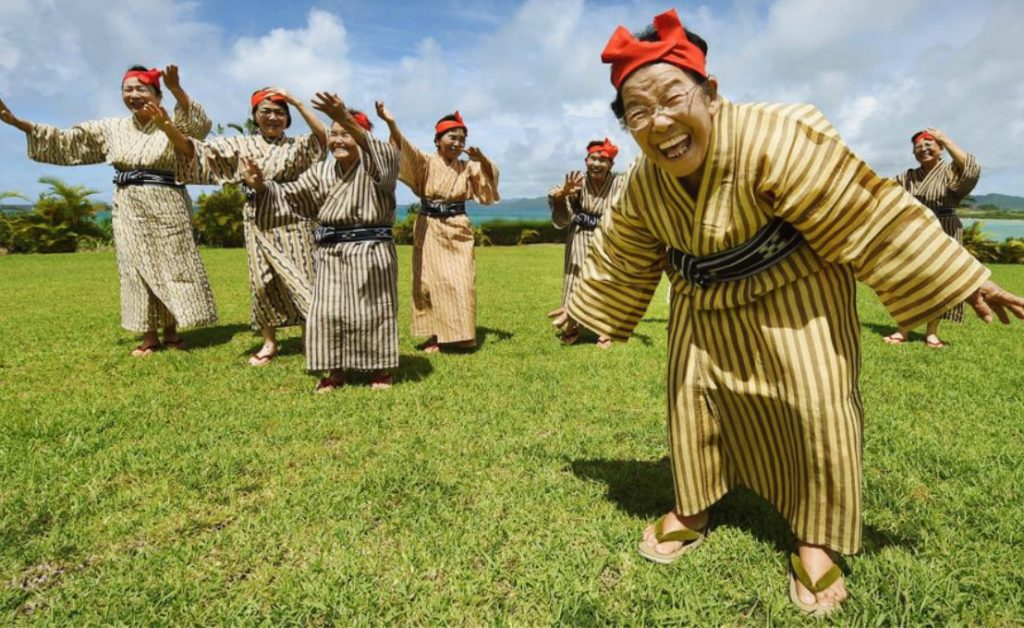Moradores de Okinawa