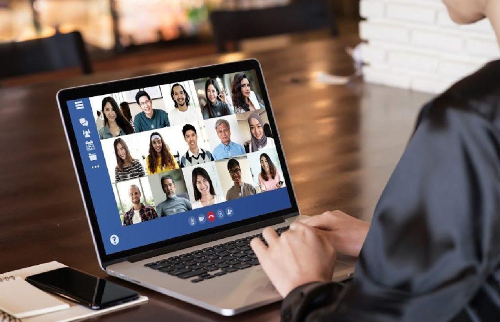 Reunião online de trabalho